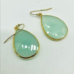 Jewelry - Chalcedony drop earrings.